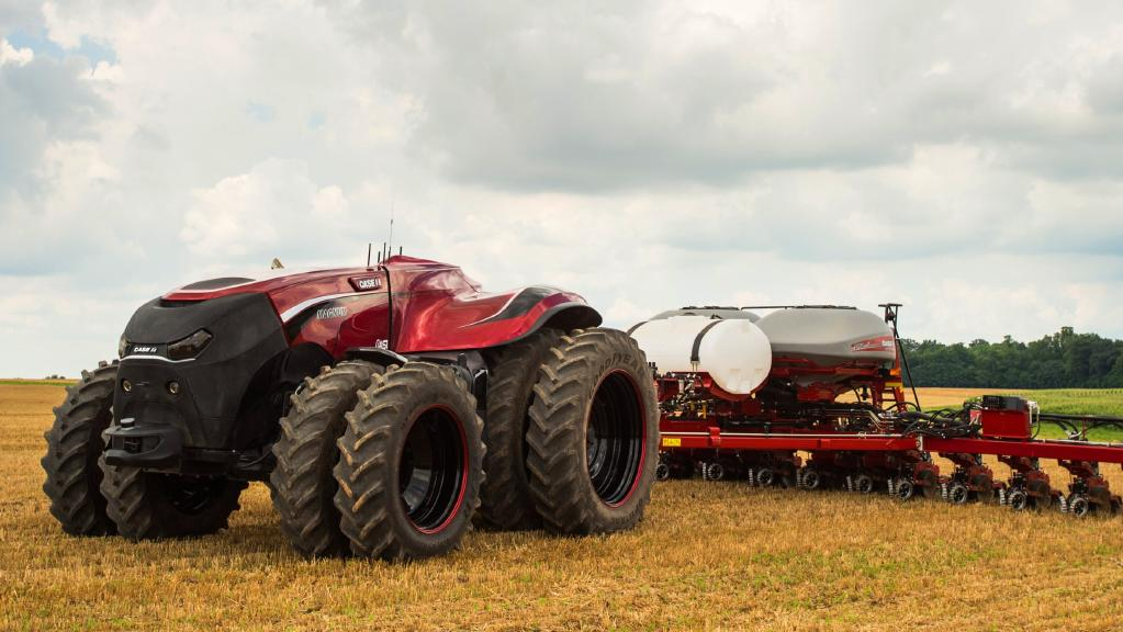 Case IH's driverless tractor concept based on a Magnum 340.